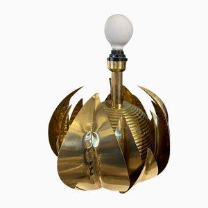 Brass Artichoke Lamp by Tommaso Barbi