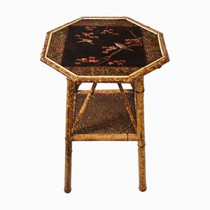 Antique Bamboo Side Table, 1890