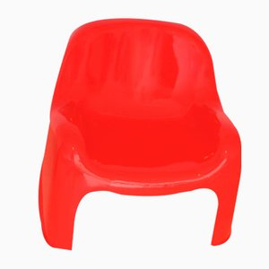 Italian Red Toga Armchair by Sergio Mazza for Artemide, 1960s