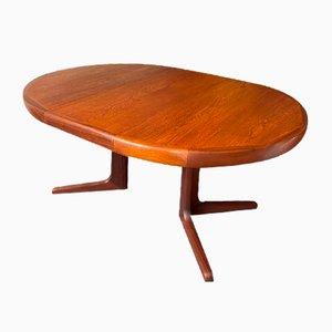 Scandinavian Style Round Expandable Table in Teak and Teak Veneer, 1960s