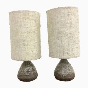 Small Ceramic Table Lamps from Studio Krösselbach WGP, 1960s, Set of 2