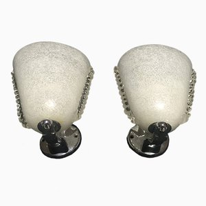 Pulegoso Glass Sconces from Venini, Set of 2