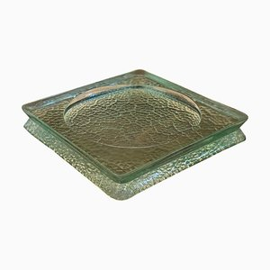 French Glass Ashtray in the Style of Saint Gobain, 1950s
