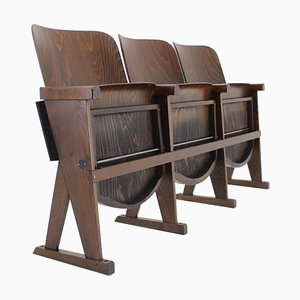 Czech Cinema Benches, 1960s, Set of 3