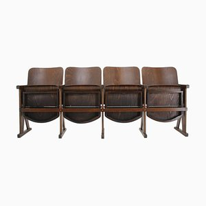 Czech Cinema Benches, 1960s, Set of 4