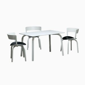 White Bentwood 1404 Dining Table from Thonet