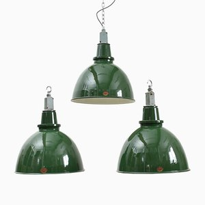 Large Green Industrial Pendant Light from Thorlux