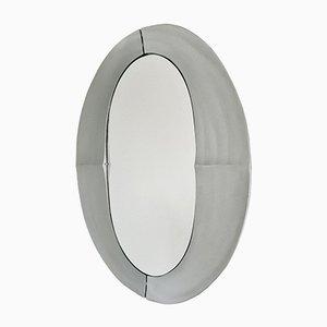Großer Spiegel aus gegossenem Aluminium von Lorenzo Burchiellaro