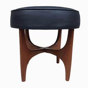 Mid-Century Leather Foot Stool from G Plan