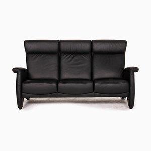 Black Leather Ergoline Sofa from Himolla