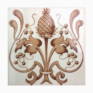 Belgium Art Nouveau Glazed Tile, 1920