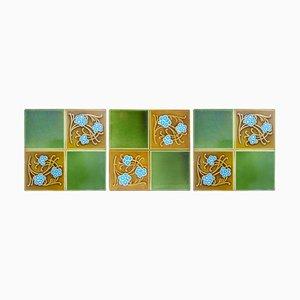 Art Deco Relief Tiles by Gilliot Frères for Hemiksem, 1920s