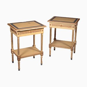Neoclassical Style Nightstands, Set of 2