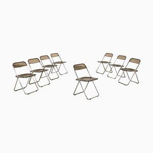 Folding Chairs by Giancarlo Piretti for Castelli / Anonima Castelli, Set of 8