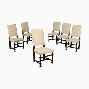 Walnut Armchairs, Set of 6