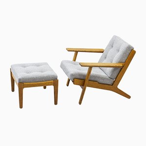 Lounge Chair and Ottoman by Hans J. Wegner For Getama