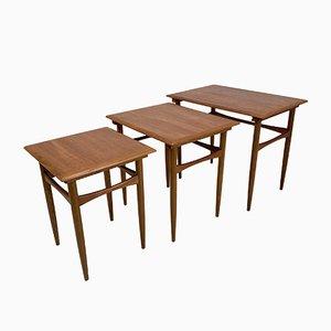 Teak Nesting Tables from Poul Hundevad, Set of 3