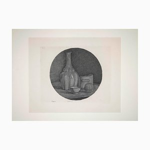 Giorgio Morandi, Still Life with Bottle and Three Objects, Original Etching, 1946