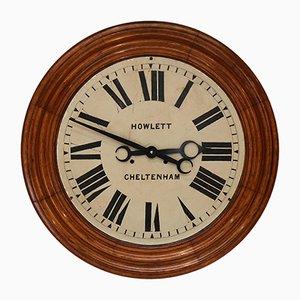 Industrial Oak Wall Clock