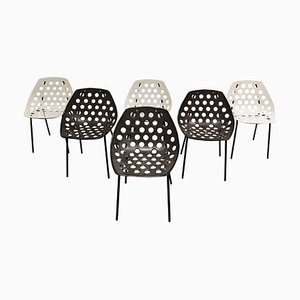 Vintage Coquillage Chairs by Pierre Guariche for Meurop, 1960s, Set of 6