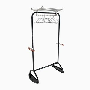 Mid-Century Hat & Coat Luggage Rack Hall Stand with Clothes Rail by R W Bamforth & Co