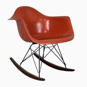 RAR Rocking Chair in Orange by Charles Eames for Herman Miller