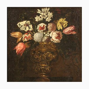 Vase with Flowers, 18th Century, Oil on Canvas