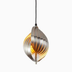 French Twirling Aluminum Pendant by Henri Mathieu