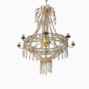 Glass Hanging Lamp from Real Fabrica De Cristales De La Granja
