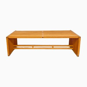 Mid-Century Modern Italian Wooden Model Ara Coffee Table by Lella and Massimo Vignelli for Driade, 1970s