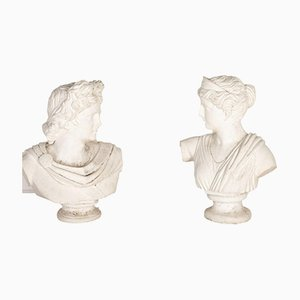 Classical Stone Busts, Set of 2