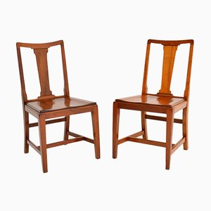 Art Deco Solid Mahogany Side Chairs, 1937, Set of 2