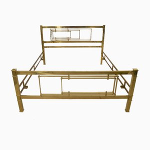 Brass Bed Frame by Luciano Frigerio, Italy, 1970s