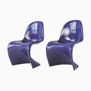 Purple S Chairs by Verner Panton for Herman Miller/Fehlbaum, Germany, 1971, Set of 2