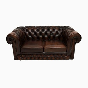 Antique Victorian Style Leather Chesterfield Sofa