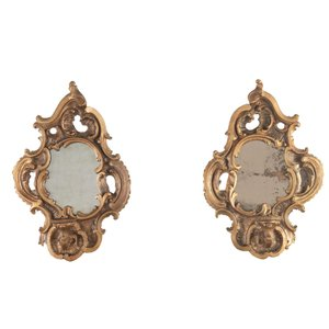 18th Century Venetian Mirrored Candle Sconces, Set of 2