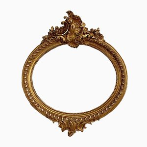 Large Late 19th Century Oval Mirror