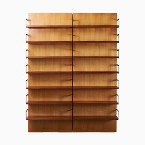 Double Wall Unit U+N Series by Cees Braakman for Pastoe, 1950s