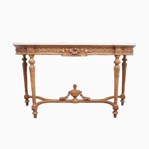 18th Century Pine and Marble Console Tables, Set of 2