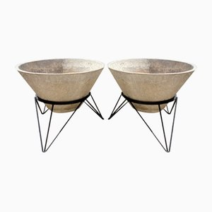 Concrete Planters in the Style of Willy Guhl, 1960s, Set of 2