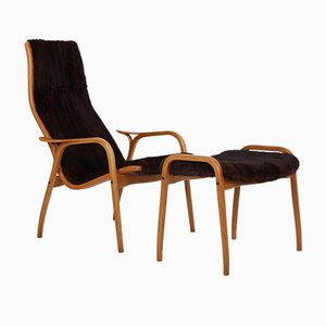 Lamino Chair and Stool by Yngve Ekström for Swedese, Set of 2