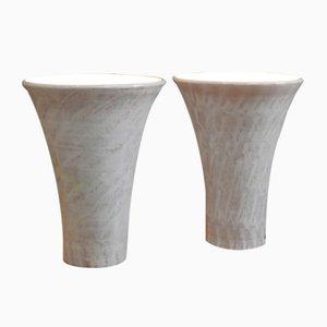 Large Ceramic Lamps, 1950s, Set of 2