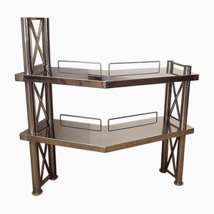 Corner Console in Steel, Italy, 1970s