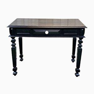19th Century Napoleon III Blackened Wooden Desk