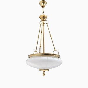 Mid-Century Neoclassical Style Murano Glass Ceiling Lamp, Italy