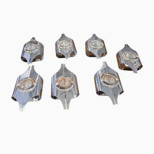 Wall Lamps by Oscar Torlasco, Set of 7