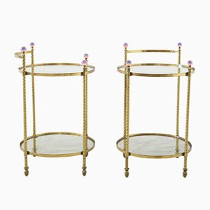 Brass Tables, 1980s, Set of 2