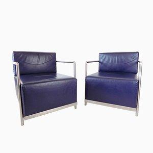 Leather Armchairs by Casper N. Gerosa, Set of 2