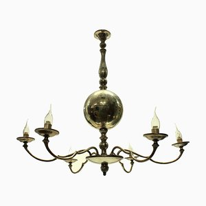 French Silver-Plated Chandelier, 1950s