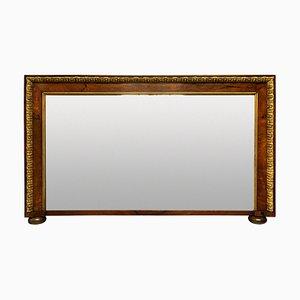 George II Style Walnut & Parcel Gilt Overmantel Mirror
